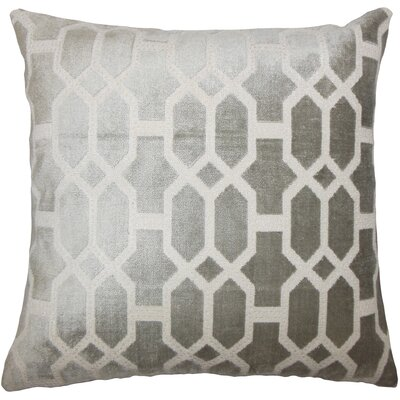 Absher Geometric Floor Pillow Color: Gray