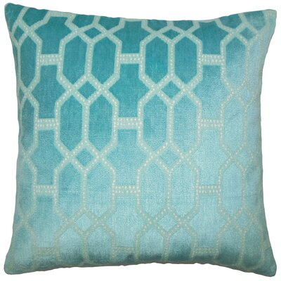 Absher Geometric Floor Pillow Color: Turquoise