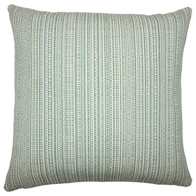 Fisher Striped Floor Pillow Color: Aqua Green