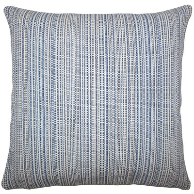 Fisher Striped Floor Pillow Color: Lapis