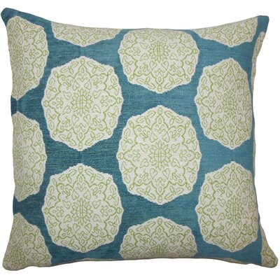 Kathleen Geometric Floor Pillow Color: Aqua Green