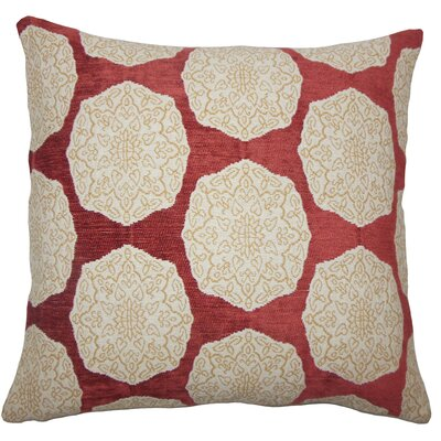 Kathleen Geometric Floor Pillow Color: Cayenne