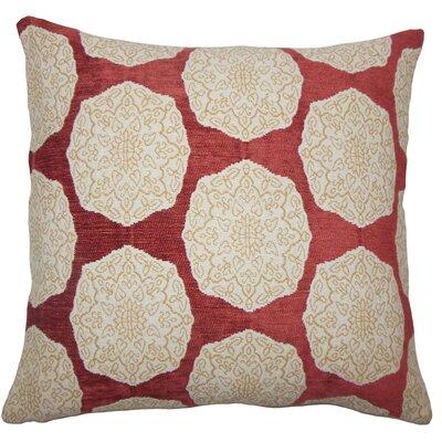 Kathleen Geometric Floor Pillow Color: Cayenne