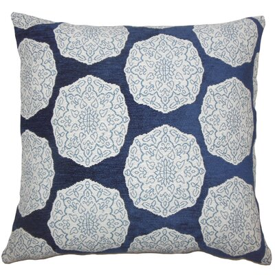 Kathleen Geometric Floor Pillow Color: Indigo