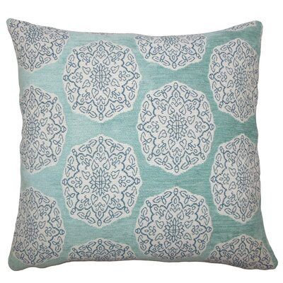 Kathleen Geometric Floor Pillow Color: Turquoise