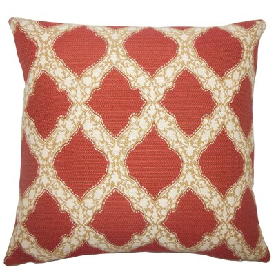 Albina Geometric Floor Pillow Color: Cayenne