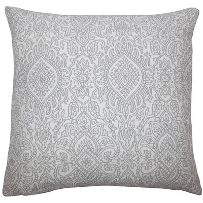 Carleton Damask Floor Pillow Color: Gray