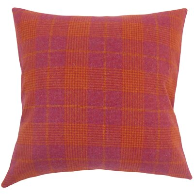 Dostie Plaid Pink Floor Pillow