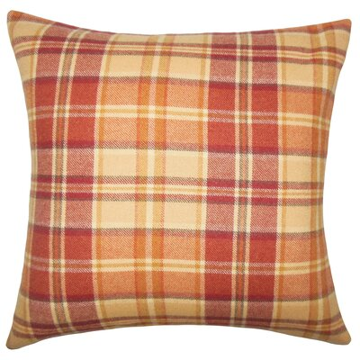 Adrian Plaid Floor Pillow Color: Red