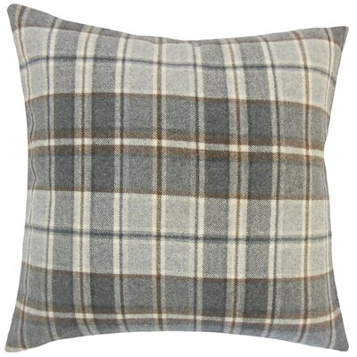 Adrian Plaid Floor Pillow Color: Gray