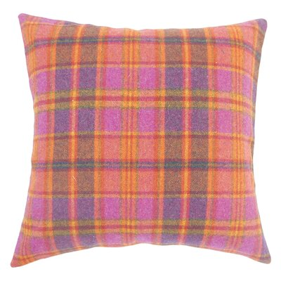 Adrian Plaid Floor Pillow Color: Pink