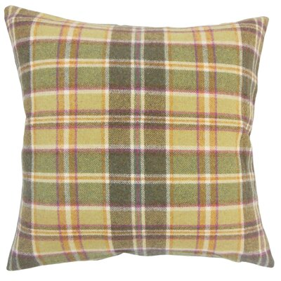 Adrian Plaid Floor Pillow Color: Yellow