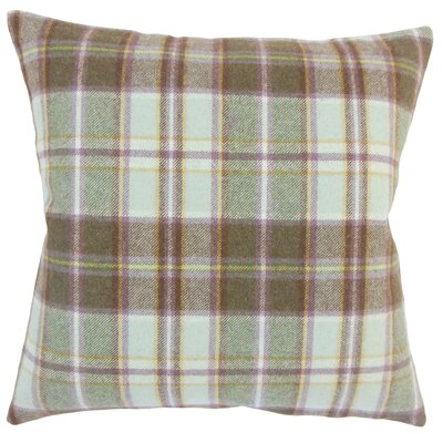 Adrian Plaid Floor Pillow Color: Brown
