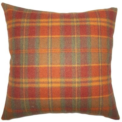 Adrian Plaid Floor Pillow Color: Orange
