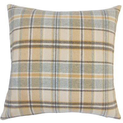 Adrian Plaid Floor Pillow Color: Tan