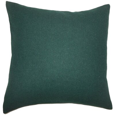 Schubert Solid Floor Pillow Color: Dark Green