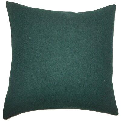 Schubert Solid Floor Pillow Color: Dark Green