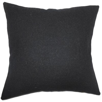 Schubert Solid Floor Pillow Color: Black