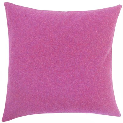 Schubert Solid Floor Pillow Color: Purple