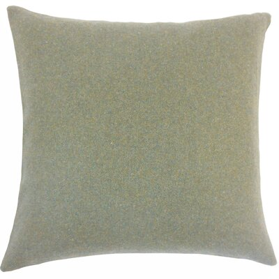 Schubert Solid Floor Pillow Color: Gray/Natural