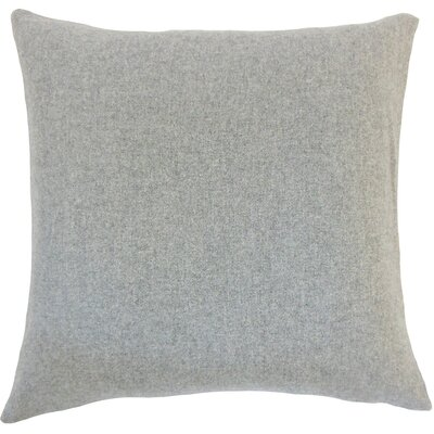 Schubert Solid Floor Pillow Color: Light Gray