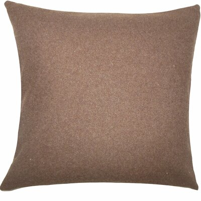 Schubert Solid Floor Pillow Color: Brown