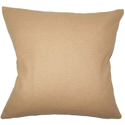 Schubert Solid Floor Pillow Color: Tan