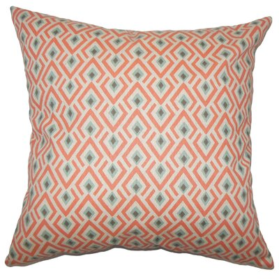 Hardeman Geometric Floor Pillow Blue Color: Orange