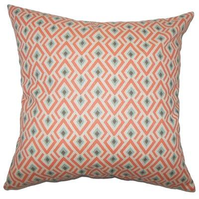 Hardeman Geometric Floor Pillow Blue Color: Orange