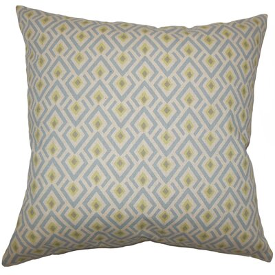 Hardeman Geometric Floor Pillow Blue Color: Blue