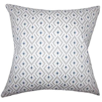 Hardeman Geometric Floor Pillow Blue Color: Gray