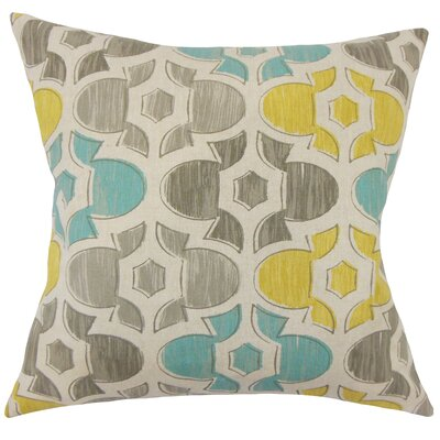 Saylorsburg Geometric Floor Pillow Color: Laken
