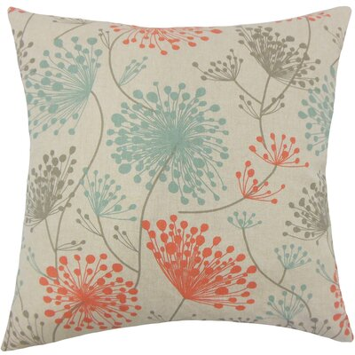 Dorsch Floral Floor Pillow Color: Laken