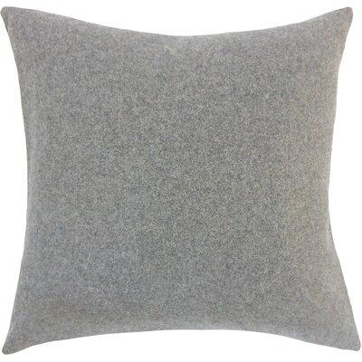 Schubert Solid Floor Pillow Color: Gray