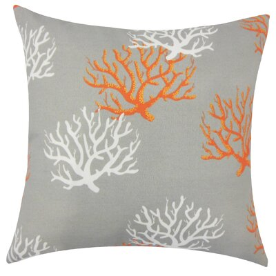 Jansen Coastal Floor Pillow Color: Citrus