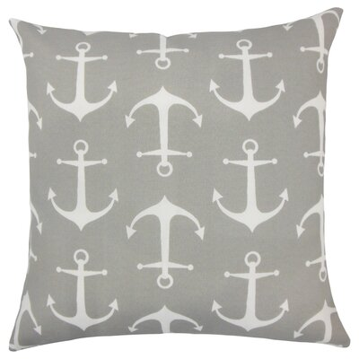 Robina Coastal Floor Pillow Color: Gray