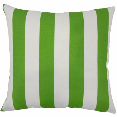 Angilia Striped Floor Pillow Color: Green