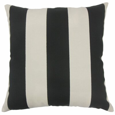 Angilia Striped Floor Pillow Color: Black Beachwood