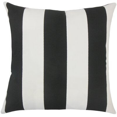 Angilia Striped Floor Pillow Color: Black