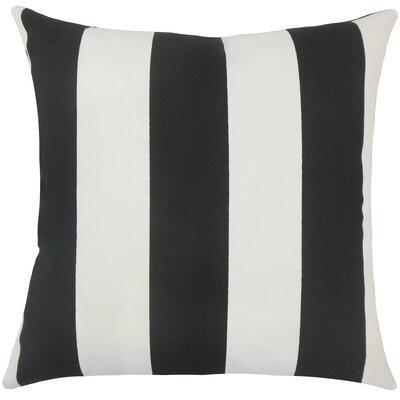 Angilia Striped Floor Pillow Color: Black