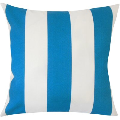Angilia Striped Floor Pillow Color: Blue