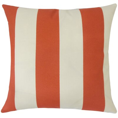 Angilia Striped Floor Pillow Color: Canyon