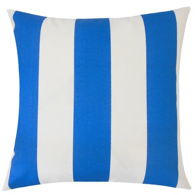 Angilia Striped Floor Pillow Color: Cobalt