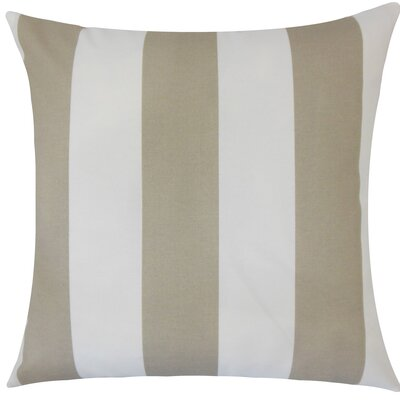 Angilia Striped Floor Pillow Color: Tan