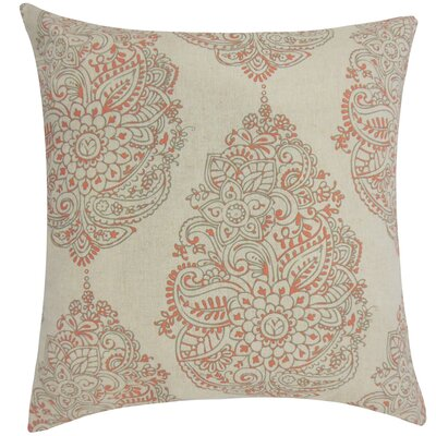 Carolina Damask Floor Pillow Color: Orange