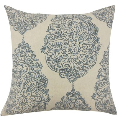 Carolina Damask Floor Pillow Color: Blue