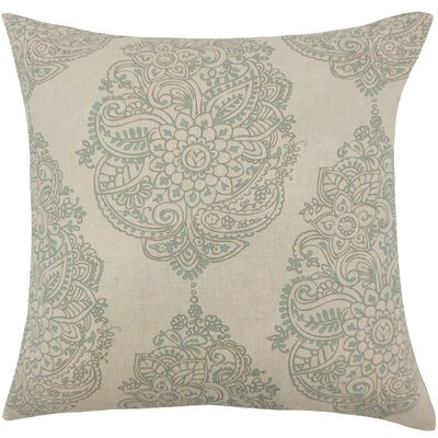 Carolina Damask Floor Pillow Color: Blue Laken