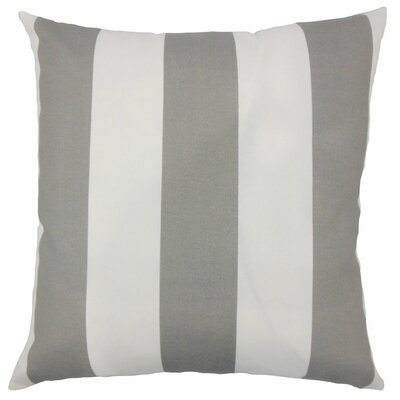 Angilia Striped Floor Pillow Color: Gray