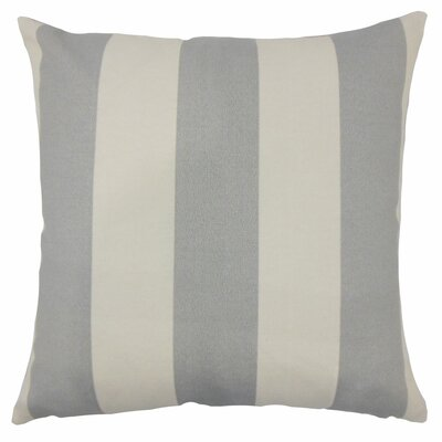 Angilia Striped Floor Pillow Color: Gray Beachwood