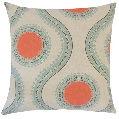 Castlebourne Graphic Floor Pillow Color: Orange